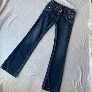 Rock Revival Elizabeth Wide Leg Jeans Size 26x34